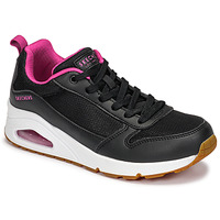 Chaussures Femme Baskets basses Skechers UNO Noir / Rose