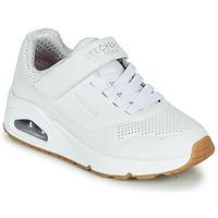 Chaussures Enfant Baskets basses Skechers UNO Blanc