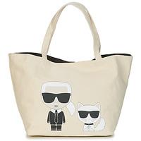 Sacs Femme Cabas / Sacs shopping Karl Lagerfeld K/IKONIK KARL & CHOUPETTE TOTE Noir