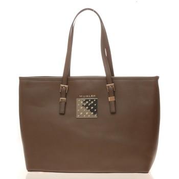 Sacs Femme Cabas / Sacs shopping Thierry Mugler Sac Eclat 5 Taupe Marron