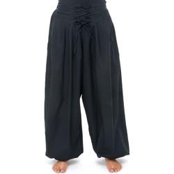 Vêtements Femme Pantalons fluides / Sarouels Fantazia Pantalon hiver ethnic ceinture corset noir Bliza Noir