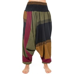 Vêtements Pantalons fluides / Sarouels Fantazia Sarouel elastique festival babacool Adhou Jaune