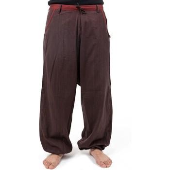 Vêtements Pantalons fluides / Sarouels Fantazia Pantalon sarwel coupe droite Dayam Marron