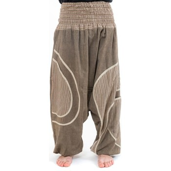 Vêtements Calvin Klein Jeans Fantazia Sarouel grande taille beige chanvre Blanc / écru