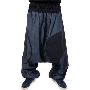 Vêtements Pantalons fluides / Sarouels Fantazia Sarouel jean grande taille mixte Zeus Bleu