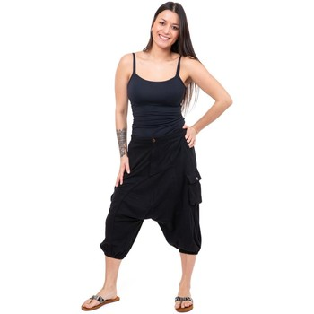 Vêtements Pantacourts Fantazia Bermuda sarouel cargo jersey black Milhano Noir
