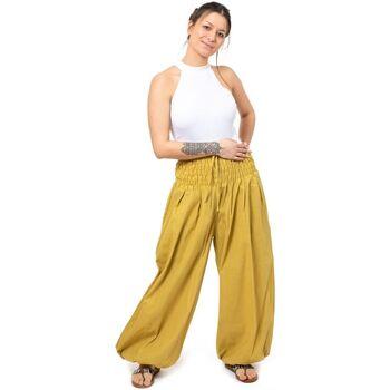 Vêtements Femme Pantalons fluides / Sarouels Fantazia Pantalon elastique bouffant grande taille femme Myu Jaune