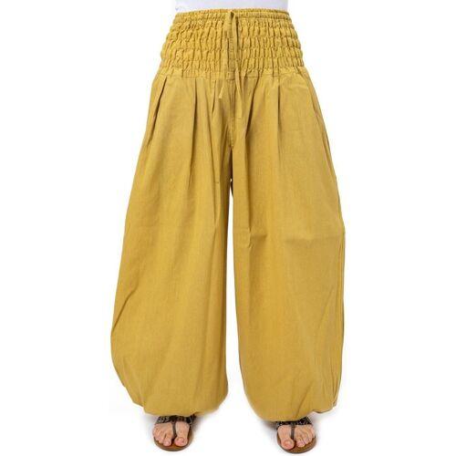 Fantazia Pantalon elastique bouffant grande taille femme Myu Moutarde 17693338