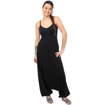 Vêtements Combinaisons / Salopettes Fantazia Combinaison sarouel basique ethnique noir printemps ete Noir