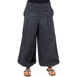 Vêtements Femme Pantalons fluides / Sarouels Fantazia Pantalon ethnique large bouffant droit gris Damho Gris