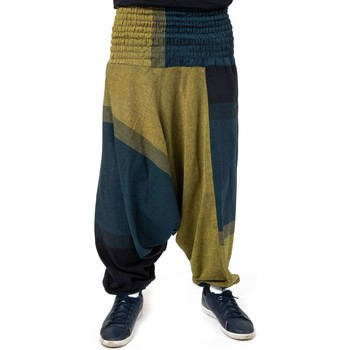 Vêtements Pantalons fluides / Sarouels Fantazia Saroual mixte large elastique Manito Vert