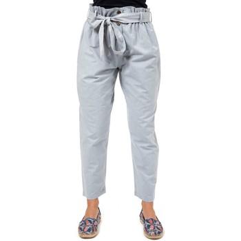 Vêtements Femme Chinos / Carrots Fantazia Pantalon carotte girly zen Kheti Bleu