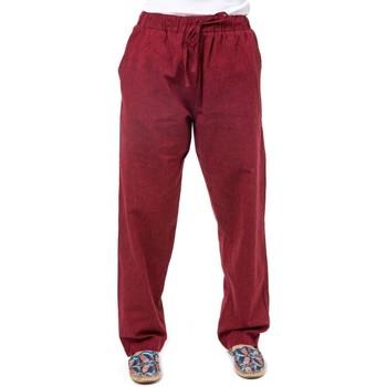 Vêtements Pantalons fluides / Sarouels Fantazia Pantalon droit confort mixte Maleh Rouge