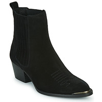 Chaussures Femme Bottines Ikks TIAG SUEDE Noir