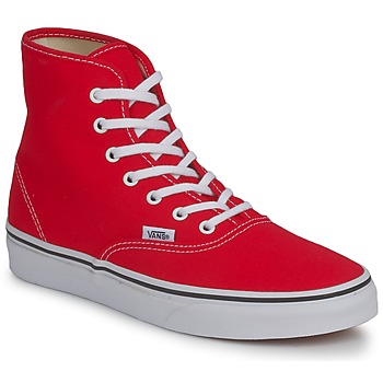 Chaussures Femme Baskets montantes Vans AUTHENTIC HI Rouge