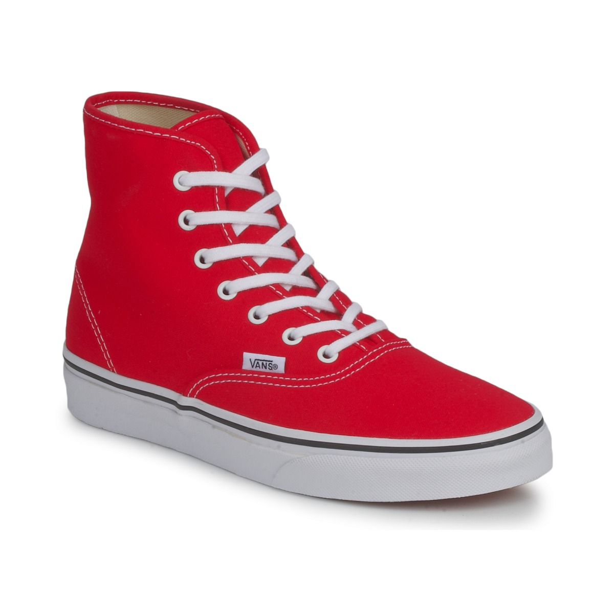 vans authentic hi rouge livraison gratuite avec chaussures basket montante. Black Bedroom Furniture Sets. Home Design Ideas