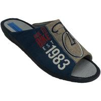 Chaussures Homme Chaussons Made In Spain 1940 Tongs homme être à la maison bout ouvert azul