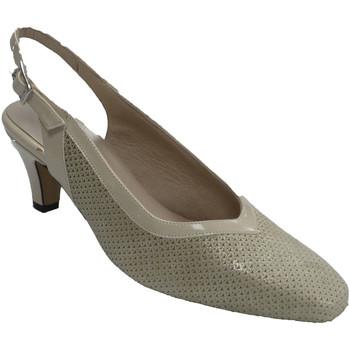 Chaussures Femme Escarpins Trebede Chaussures femme dos ouvert cuir verni e beige