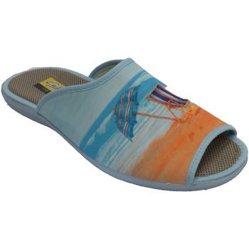 Chaussures Femme Chaussons Aguas Nuevas Tongs à bout ouvert et chaise longue et beige