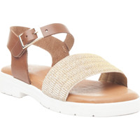 Chaussures Fille Sandales et Nu-pieds Isa Miel 64349 LEATHER