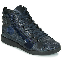 Chaussures Femme Baskets montantes Pataugas PALME/C F4F Marine