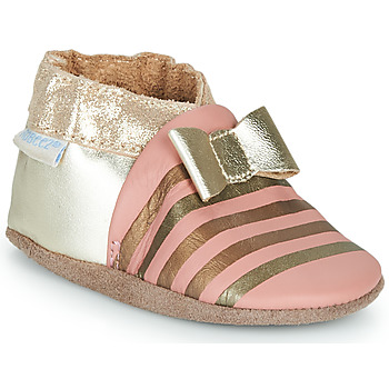 Chaussures Fille Chaussons Robeez SHINY BOW TIE Rose / Doré