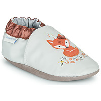 Chaussures Fille Chaussons Robeez LITTLE DREAMER Gris / Orange