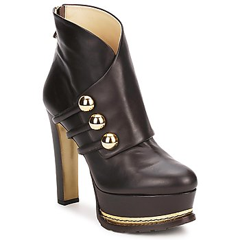 Chaussures Femme Bottines Moschino MA2104 DARK BROWN