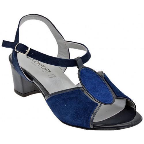 Chaussures Femme Sandales et Nu-pieds Confort 8014T.40Sandales Bleu