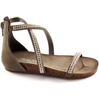 Chaussures Fille Sandales et Nu-pieds Bottega Artigiana BOUTIQUE ARTIGIANA 3977 cendres petite fille zip sandales à talo Grigio