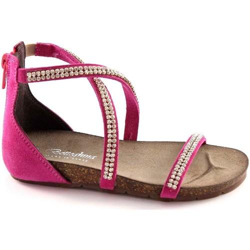 Chaussures Fille Sandales et Nu-pieds Bottega Artigiana BOUTIQUE ARTIGIANA 3977 FUXIA petite fille zip sandales à talons Rosa