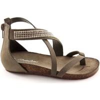 Chaussures Enfant Sandales et Nu-pieds Bottega Artigiana BOUTIQUE ARTIGIANA 3979 cendres petite fille tongs zip talon str Grigio