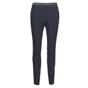 Vêtements Femme Pantalons 5 poches Karl Lagerfeld PUNTO PANTS W/ LOGO TAPE Marine / Noir