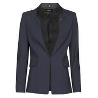 Vêtements Femme Vestes / Blazers Karl Lagerfeld PUNTO JACKET W/ SATIN LAPEL Marine / Noir