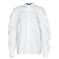 Vêtements Femme Chemises / Chemisiers Karl Lagerfeld POPLIN BLOUSE W/ GATHERING Blanc