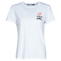Vêtements Femme T-shirts manches courtes Karl Lagerfeld FOREVER KARL T-SHIRT Blanc