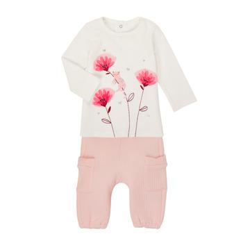 Vêtements Fille Ensembles enfant Catimini CR36001-11 Blanc / Rose