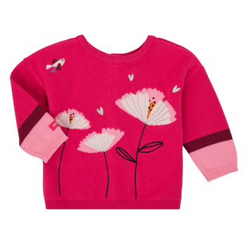 Vêtements Fille Gilets / Cardigans Catimini CR18033-35 Rose