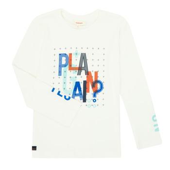Vêtements Garçon T-shirts manches longues Catimini CR10124-19-J Blanc
