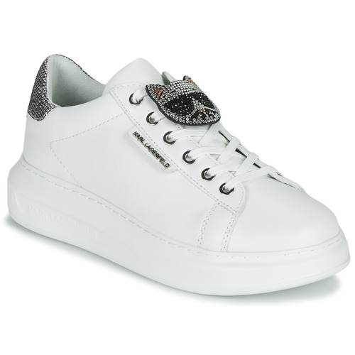 Chaussures Femme Baskets basses Karl Lagerfeld KAPRI IKONIC TWIN LO LACE White Lthr W / Silver
