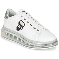 Chaussures Femme Baskets basses Karl Lagerfeld KAPRI KUSHION Karl Ikonic Lo Lace Blanc / Argenté