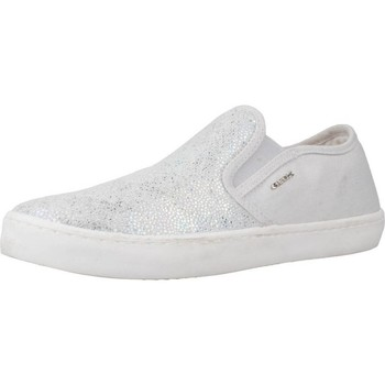 Chaussures Fille Slip ons Geox J KILWI G.D Gris