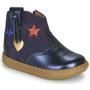 Chaussures Fille Baskets montantes Shoo Pom BOUBA WEST Bleu