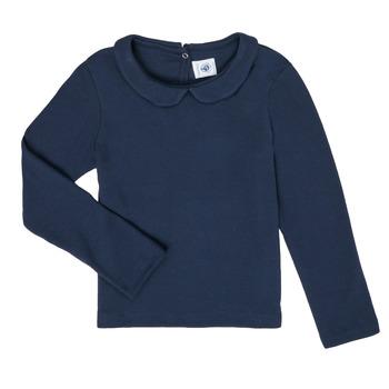 Vêtements Fille T-shirts manches longues Petit Bateau LOVING Marine