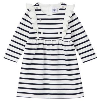 Vêtements Fille Robes courtes Petit Bateau LEVRIER Blanc / Marine