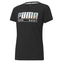 Vêtements Fille T-shirts manches courtes Puma ALPHA TEE 165 Noir