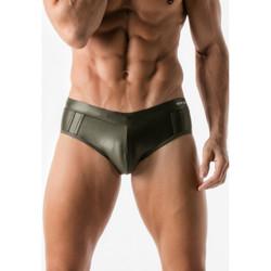 Vêtements Homme Maillots / Shorts de bain Code 22 Slip de bain Metallic Code22 Kaki