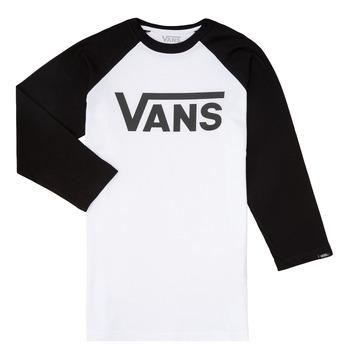 Vêtements Garçon T-shirts manches longues Vans VANS CLASSIC RAGLAN Noir / Blanc