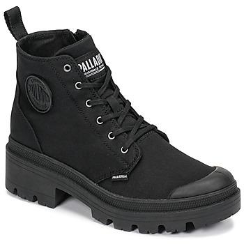 Chaussures Femme Boots Palladium PALLABASE TWILL Noir