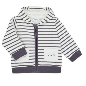 Vêtements Garçon Gilets / Cardigans Noukie's Z050151 Blanc / Bleu